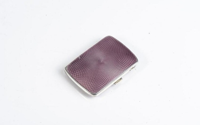 A SILVER AND ENAMELLED CIGARETTE CASE JOSEPH GLOSTER