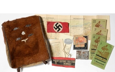 A SMALL COLLECTION OF GERMAN, THIRD REICH, MEMORABILIA AND P...