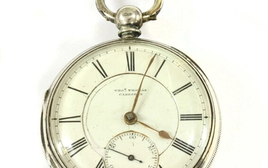 A Victorian sterling silver fusee lever open-faced pocket watch.