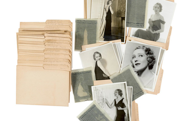 A group of original photos and negatives of Mary Pickford taken by Russell Ball