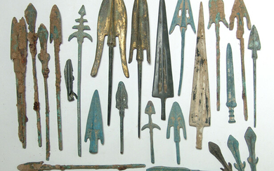 A large group of replica Chinese weapon points