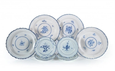 A miscellaneous assortment of Staffordshire pearlware blue and white plates