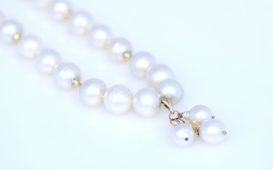 A pair of South Sea Pearl necklaces.