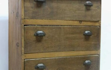 AMERICAN ANTIQUE TALL COTTAGE CHEST