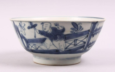 AN EARLY CHINESE BLUE & WHITE PORCELAIN SHIPWRECK BOWL