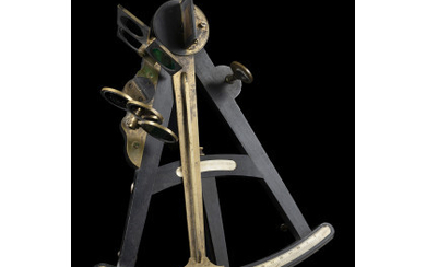 An octant in ebony, bone and brass. England, first half...