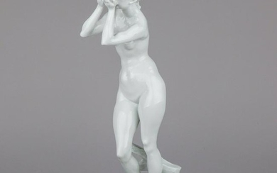 """Antique Herend Extremely Rare Fortuna 18"""" Large Nude"""