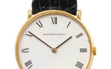 Audemars Piguet. Ultra-flat wristwatch.