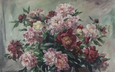 CHAPEL, PAUL. FLORAL STILL LIFE WITH PEONIES. 71...
