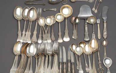CUTLERY, silver, Swedish and foreign stamps, 1800s / 1900s.