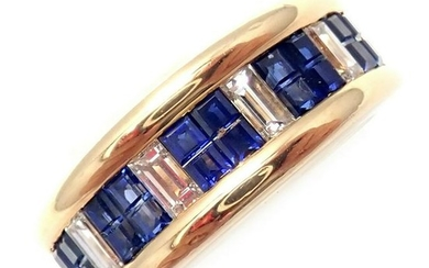 Cartier 18k Yellow Gold Diamond Invisible Set Sapphire