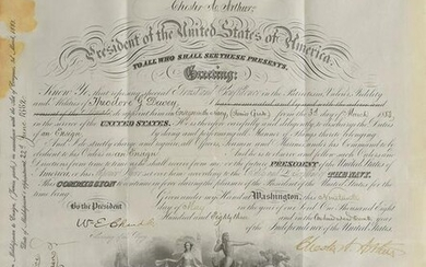 Chester A. Arthur Document Signed