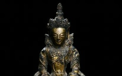 Chinese Gilt Bronze Buddha, 18th Century