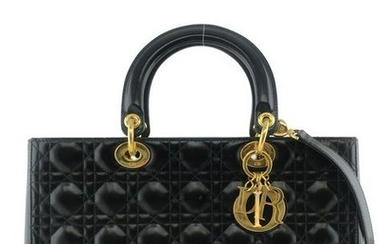 Christian Dior Lady Dior Cannage Patent Leather Large