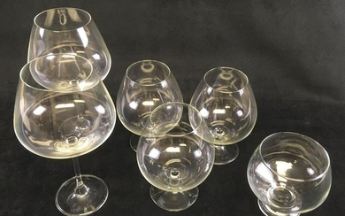 Classic BarwareCollection of 6 Fine Crystal Glass
