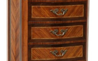 FRENCH LOUIS XV STYLE MARBLE-TOP TALL CHEST