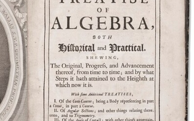 First substantial history of algebra, with early American provenance, John Wallis