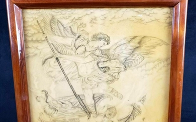 Framed Pencil Art by An Inmate of Lake Correctional