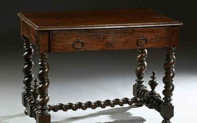French Provincial Louis XIII Carved Oak Writing Table
