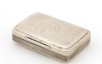 George III silver vinaigrette, the hinged lid with engraved ...
