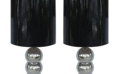 George Kovacs Stacked Ball Table Lamps with Gloss