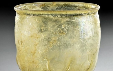 Gorgeous Roman Glass Footed Vessel