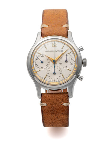 HEUER, REF. 2443, CHRONOGRAPH,RETAILED BY ABERCROMBIE & FITCH, VALJOUX 72, STEEL