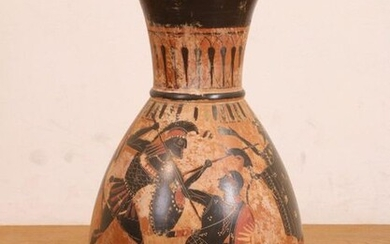 Hellas, black-figure high vase in antique style., h....