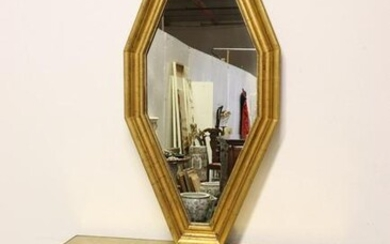 Italian Gold Leaf Console and Mirror