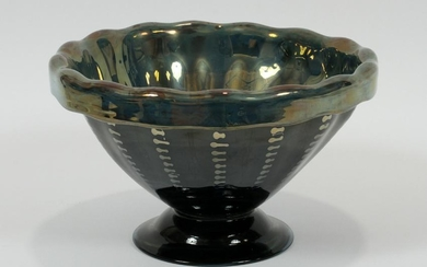LIBBEY EXPERIMENTAL FOOTED GLASS BOWL