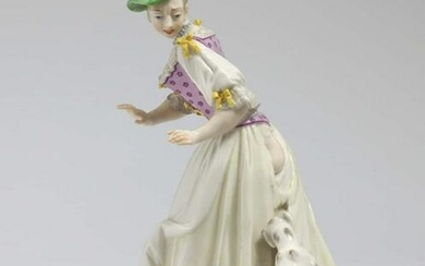 Lady Attacked by Dog Nymphenburg, model by F. A.