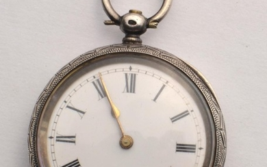 Late Victorian Silver 925 stamped ladies pocket watch 21394 ...