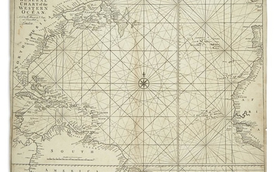 MOUNT, WILLIAM; and PAGE, THOMAS. A General Chart of the Western Ocean.