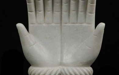 Marble Carved Hands Sculpture