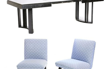 Morris Furniture of Los Angeles Dining Table and Four