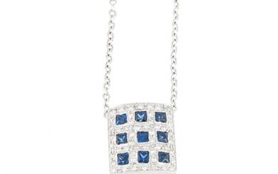 NECKLACE IN SAPPHIRES AND DIAMONDS.