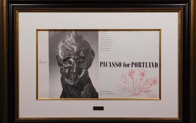 Pablo Picasso, After/Atr.: Drawing on Portland 1970 Catalog