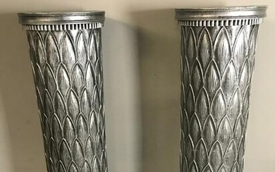Pair of Classical Painted Wood Pedestals