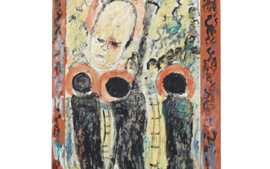 Purvis Young (1943-2010), Untitled (Three Saints with Needle)