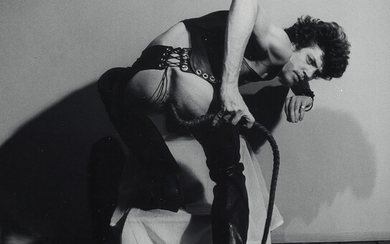 ROBERT MAPPLETHORPE (1946 1989) Self Portrait with Whip from