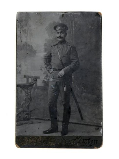 RUSSIAN IMPERIAL ARMY OFFICER WITH SWORD PHOTO