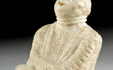 Roman Marble Figure of a Seated Laughing Actor
