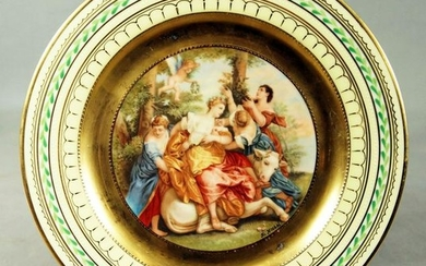 """Royal Vienna Plate Titled """"The Rape Of Europa"""""""