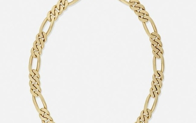 Ruby, diamond, and gold chain necklace