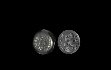 Sassanian Stamp Seal with Bust