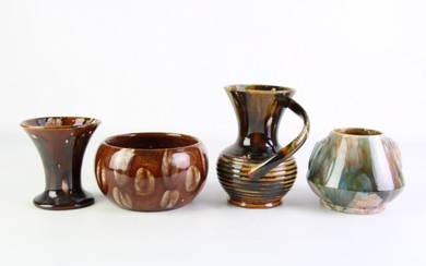 Small Collection of Regal Mashman Studio Pottery (4), Height of Tallest: 15cm