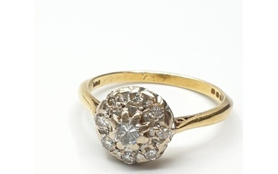 Stone set 18ct Gold Ring having a Diamond Centre stone with...