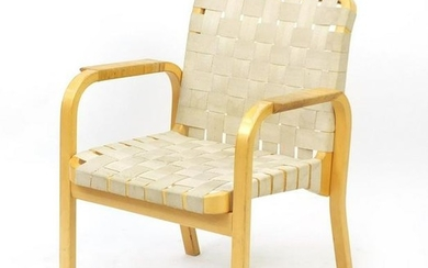 Swedish bentwood open armchair probably designed by