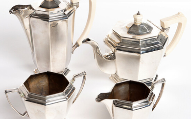 TEA AND COFFEE SERVICE, 4 parts.