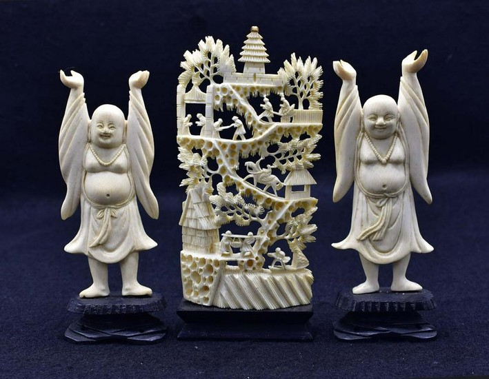 THREE CHINESE CARVINGS